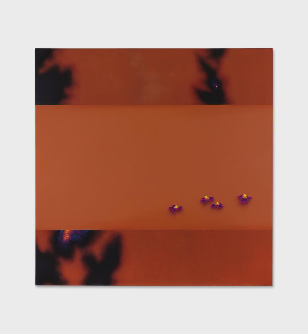 Natacha Donze, Atlas (parade),2021 Acrylique sur toile, 190 x 190 cm