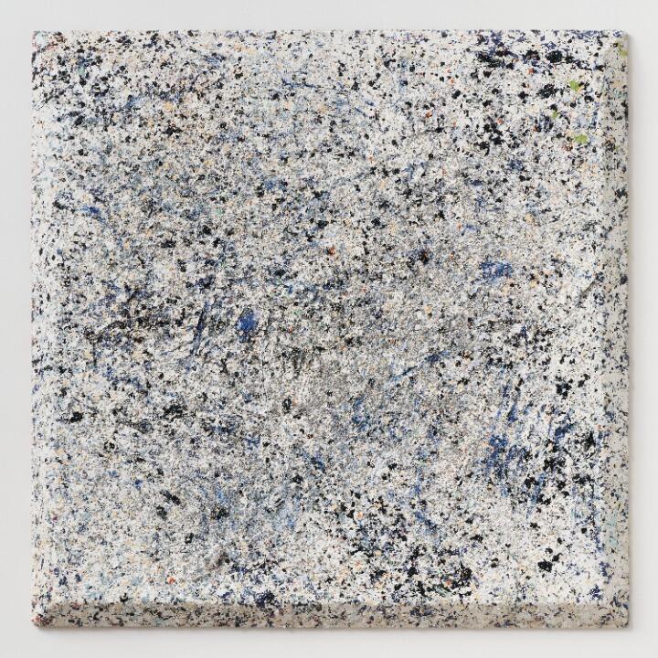 "Sam Gilliam No Change , 2021 acrylic on canvas, bevel - edge 48"" × 48"" × 3 - 1/4"" (121.9 cm × 121.9 cm × 8.3 cm"
