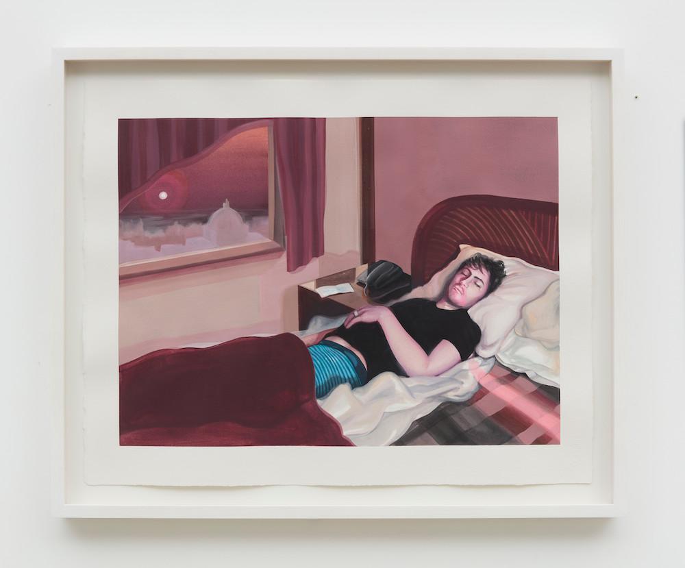 "Alannah FarrellRoom 13, 2020 18.5"" x 22.83"" (47 cm x 58 cm) Watercolor on paper,"