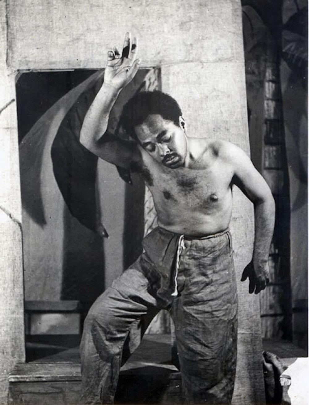 Abdias Nascimento performs in a play by Teatro Experimental do Negro Ph: Cortesia [Courtesy] Ipeafro.