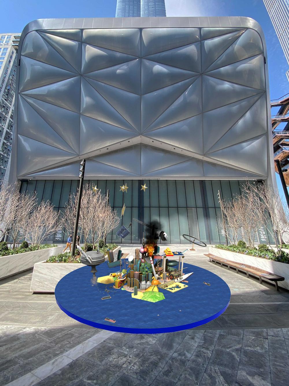 Cao Fei, RMB City AR, augmented reality, 2020. Courtesy Cao Fei and Acute Art.