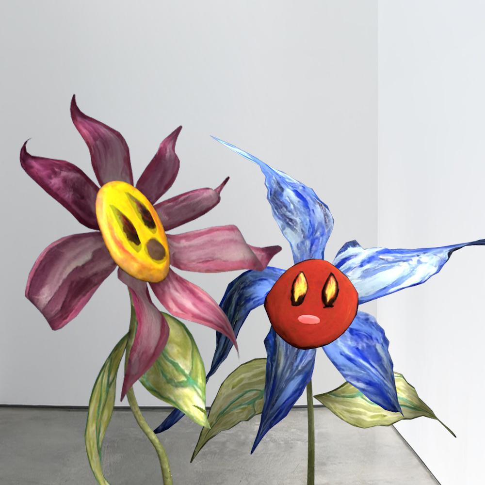 Precious Okoyomon, work in progress of Ultra Light Beams of Love, augmented reality, 2021. Courtesy Precious Okoyomon and Acute Art.