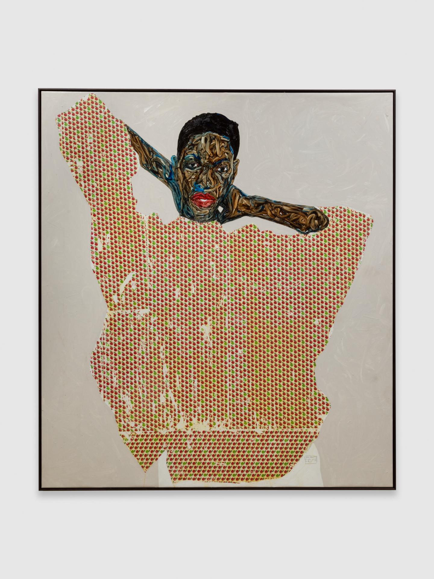 Amoako Boafo, Tasia Cobbinah, 2020, oil on canvas, 180 x 160 cm. Courtesy: the artist and Mariane Ibrahim.
