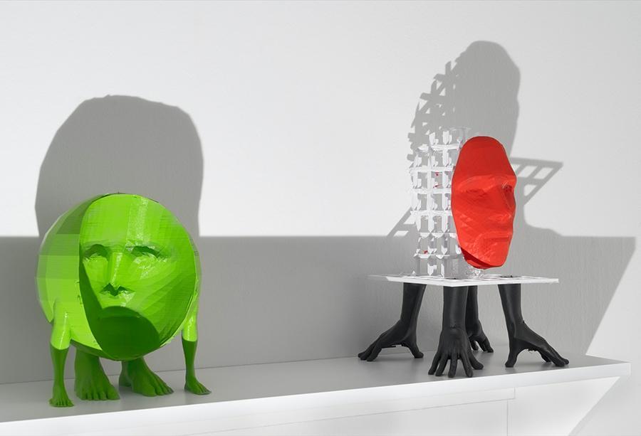 Andreas Angelidakis, Hollow Face (Green), 2020, Screenwalker, 2020 installation view, Fotogalleriet, Oslo. Courtesy: the artist and Fotogalleriet, Oslo; photograph: Jon Gorospe
