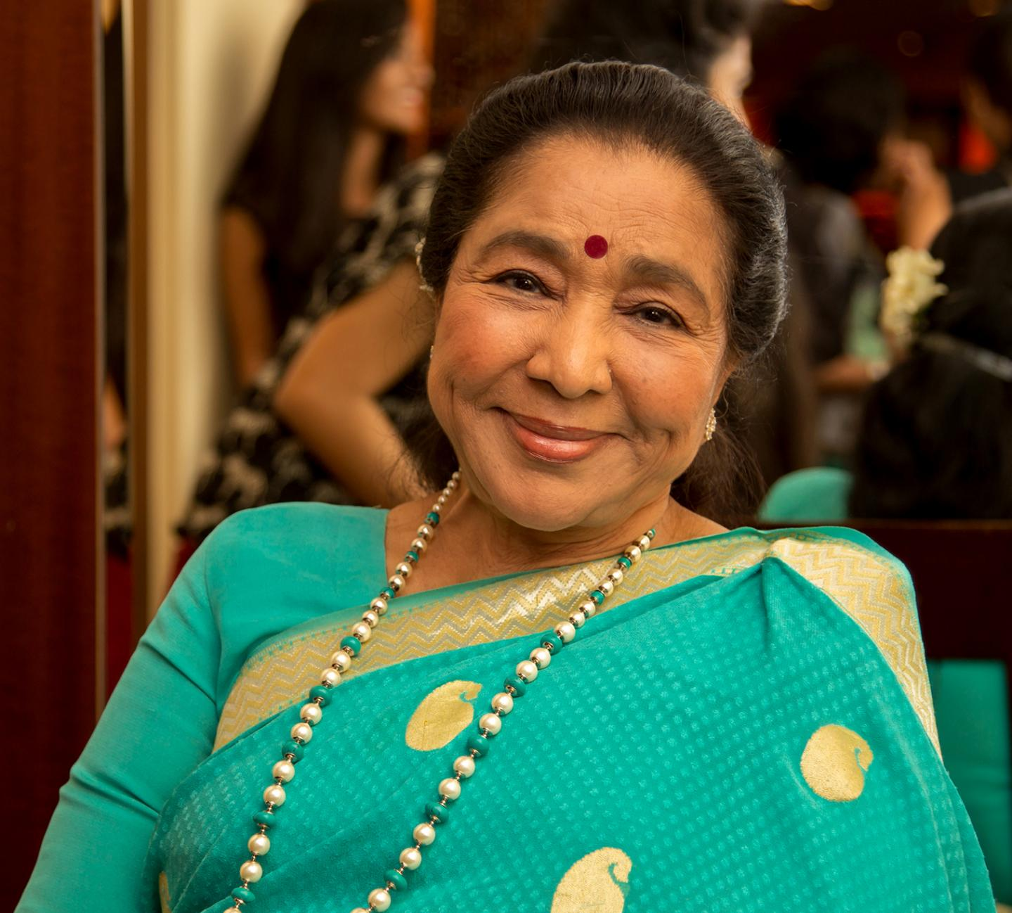 Asha Bhosle, 2015. Courtesy: Wikimedia Commons