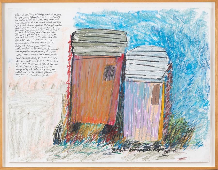 Beverly Buchanan, Blue Sky Shack, 1988
