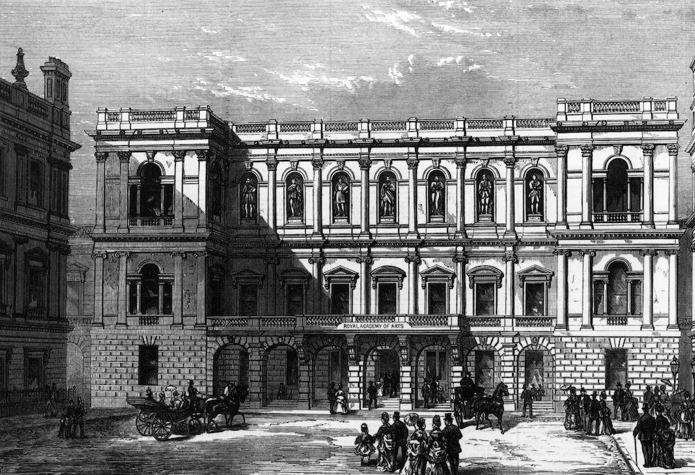 Burlington House A view of the New Royal Academy at Burlington House, in Piccadilly, London. (Photo by Hulton Archive/Getty Images)