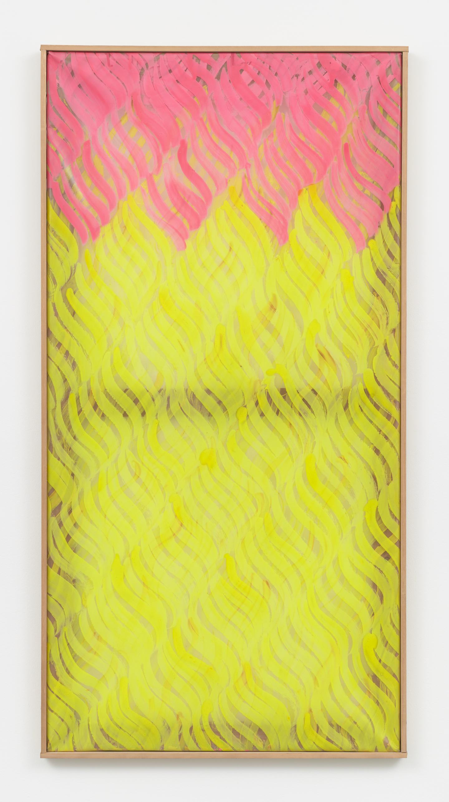 CarlaAccardi,Rossogiallo,1968, Acrylic on sicofoil, 138 × 69cm. Courtesy: the artist, Andrew Kreps Gallery and Bortolami, New York.