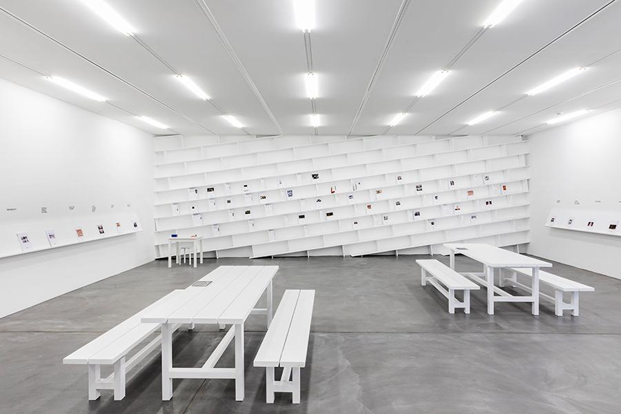 Installation view 'Cassandra Press – New Publications', Luma Westbau, Zurich, 2021. Photo: Nelly Rodriguez