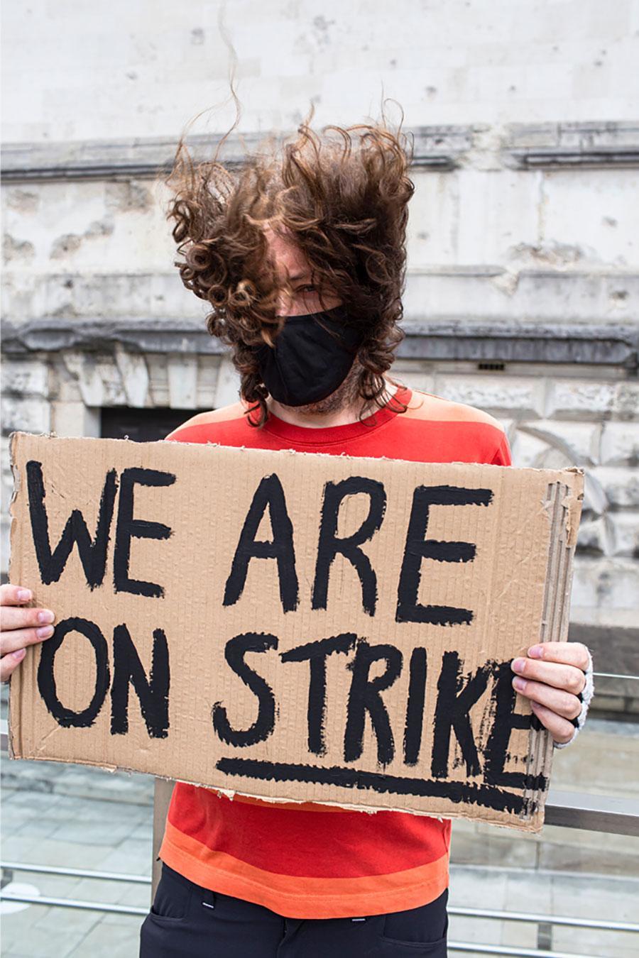 Tate Strike, 2020. Courtesy: Tate United; photograph: Jakub Wijzer
