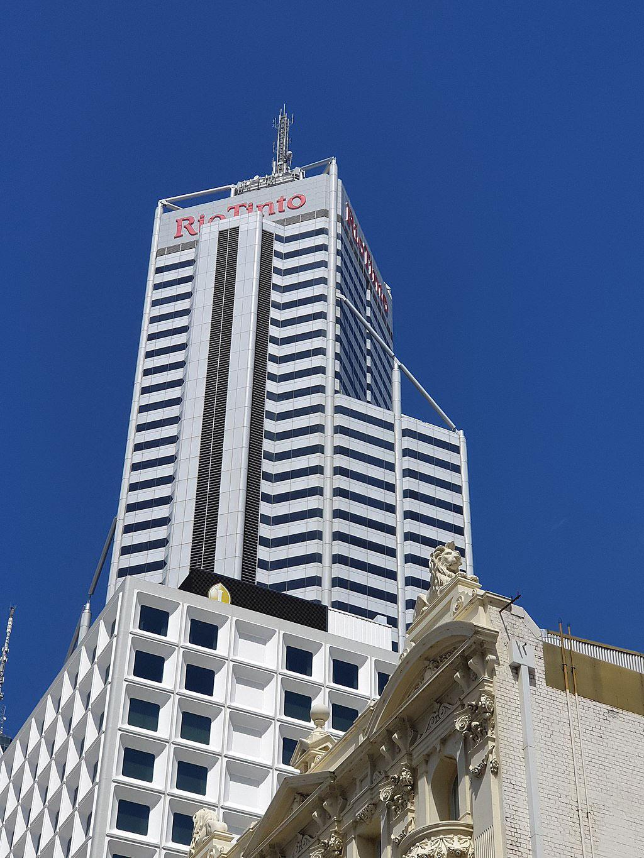 Central Park Tower (Rio Tinto sign), Perth, Australia.