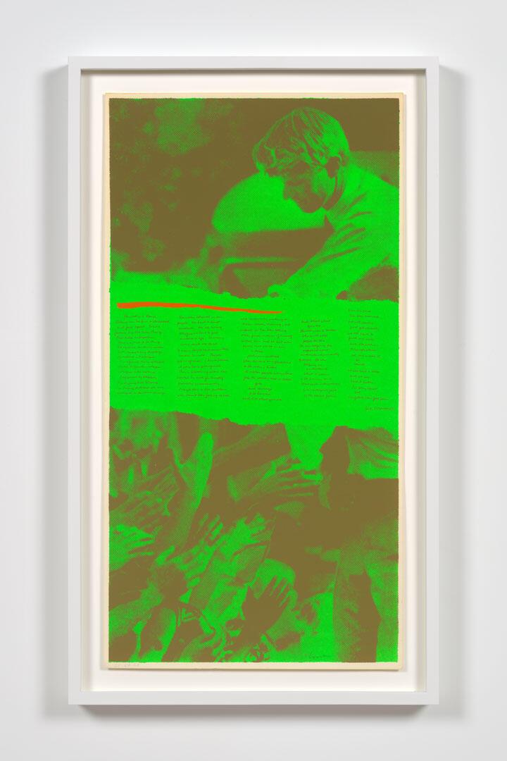 CORITA KENT i'm glad i can feel pain, 1969 Screenprint 22 1/2 × 11 1/2 inches (57.1 × 29.2 cm.)