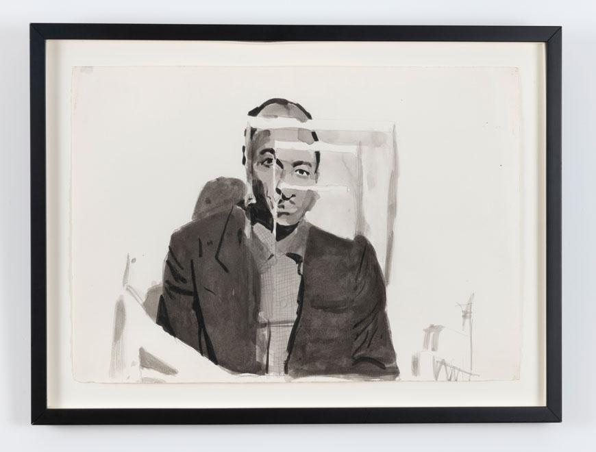 Untitled (Portrait of Joseph Tansle, Artist's Great Uncle), c. 1980–90 22 x 14 1/2 inches (55.9 x 36.8 cm)Pen and ink on paper ©Darrel Ellis EstateCourtesy Candice Madey, New YorkPhoto credit: Adam Reich