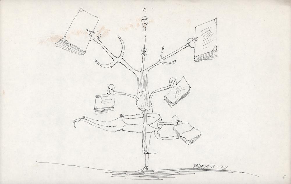 Ardeshir Mohassess, Untitled, 1973. Courtesy of Dastan's Basement