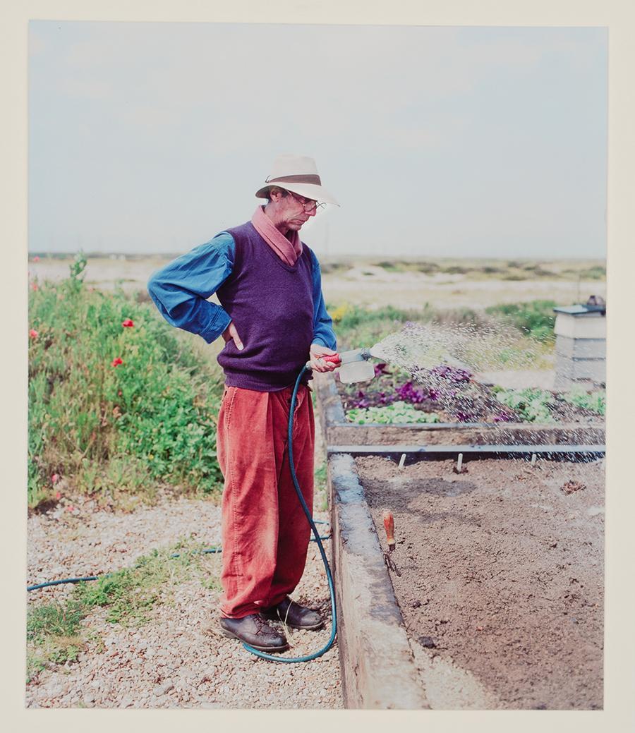 Derek-Jarman-at-Prospect-Cottage-c.1990-©-Howard-Sooley