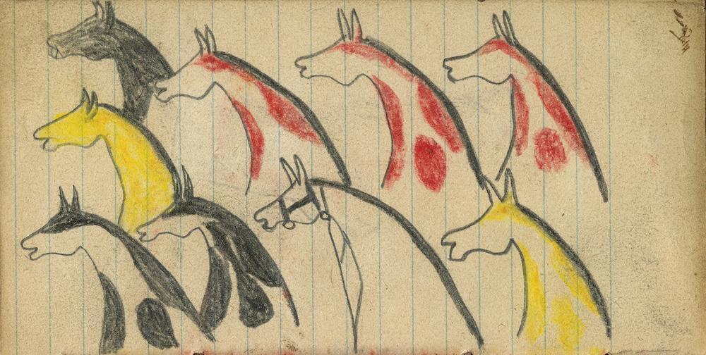 Goodwyn Ledger Book, Lakota, Northern Plains. Donald Ellis