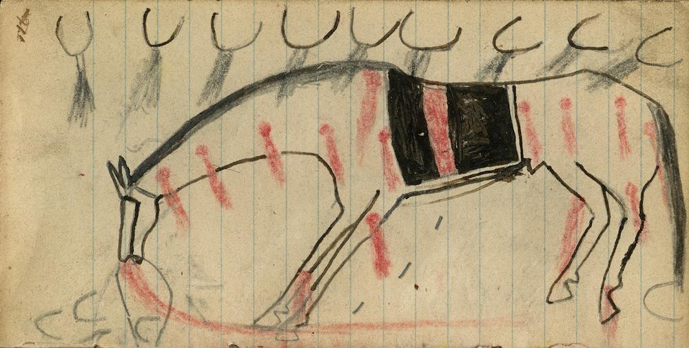 Anonymus Ledger Drawing (ca. 1880). Courtesy of Donald Ellis