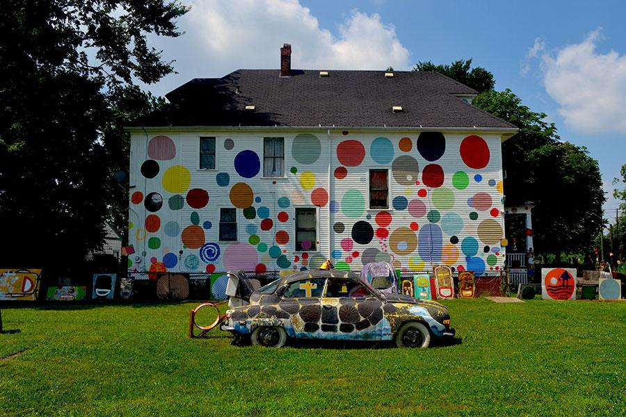 Dotty Wotty House at the Heidelberg Project. Courtesy: the artist and the Heidelberg Project, Detroit