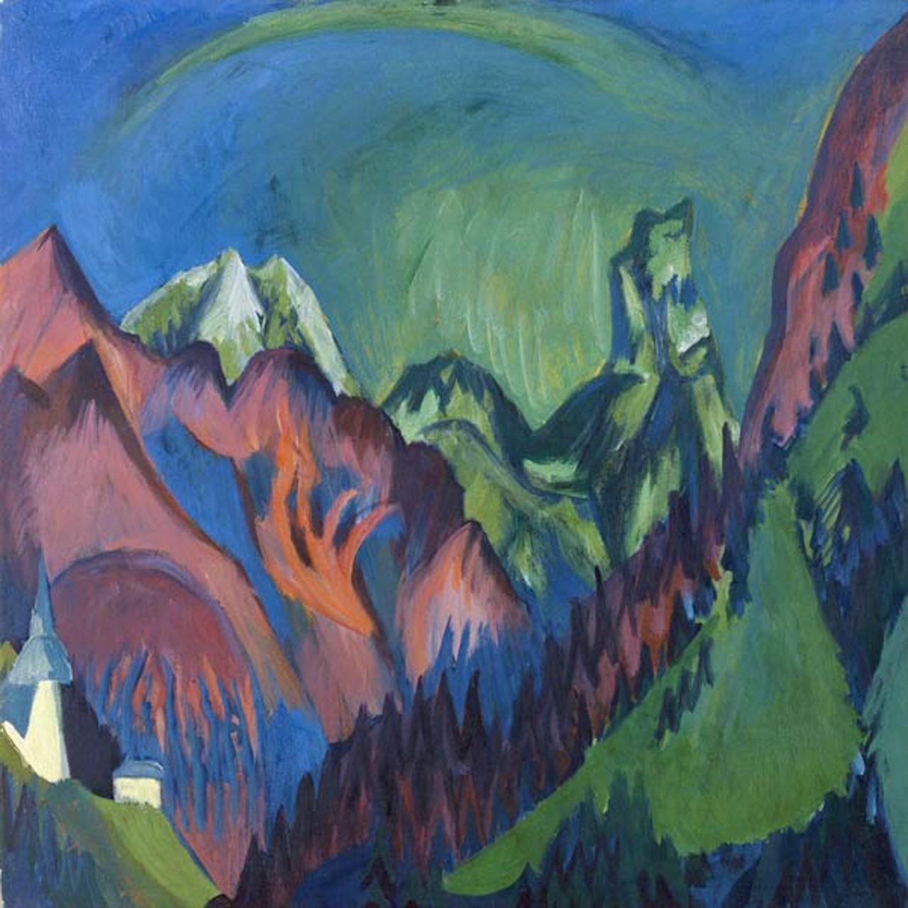 Ernst-Luwdig-Kirchner-Painting-Tinzenhorn-Zügen-Gorge-near-Monstein