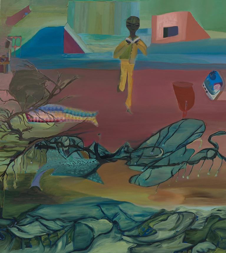 Mangia Libro , c.2007 Acrylic on canvas 54.25 x 48.1 inches (137.8 x 122.2 cm