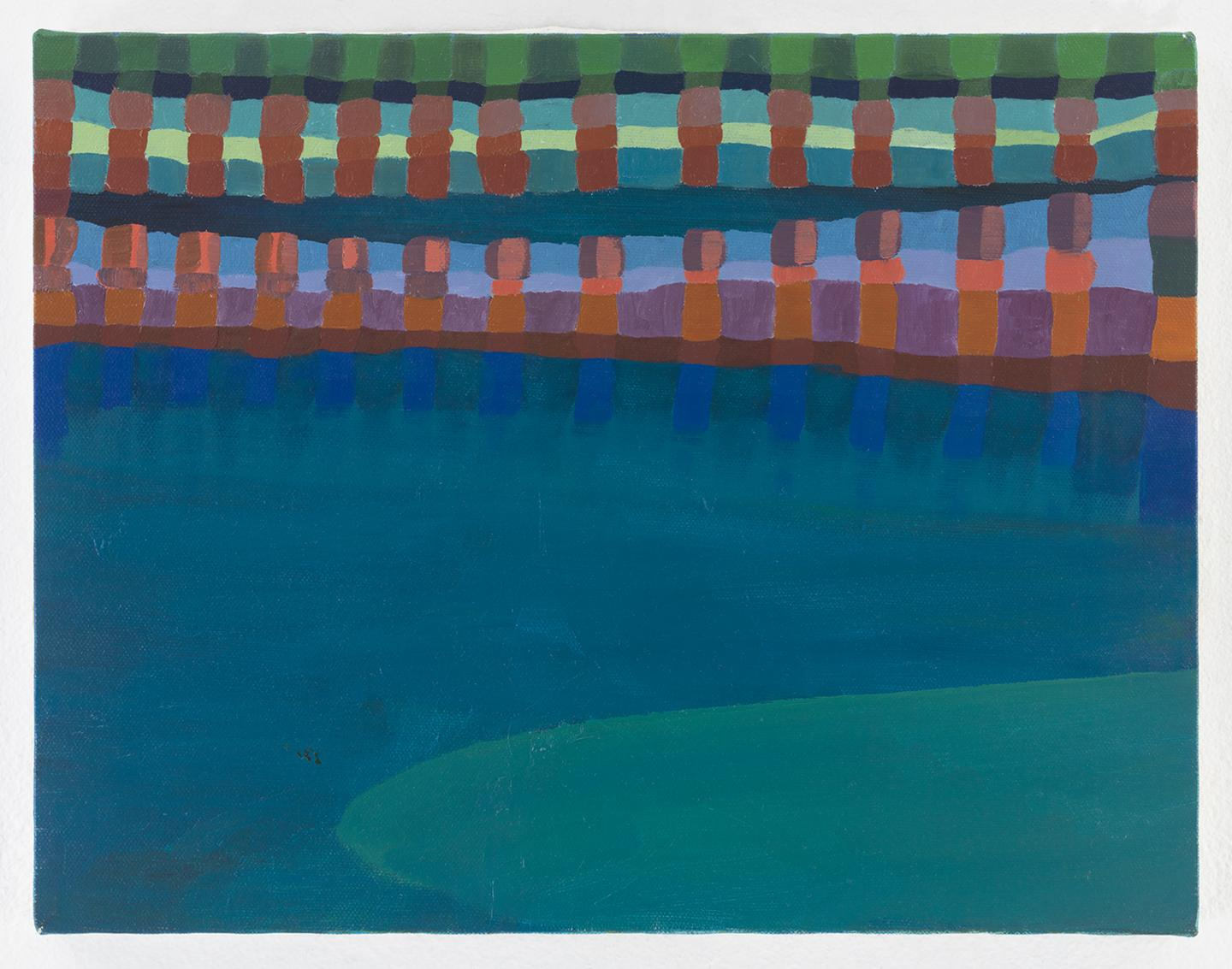 Ficre Ghebreyesus, Gate to the Blue, c.2002-07, acrylic on canvas, 27.9 x 35.6 cm). Courtesy: Galerie Lelong Co., New York.