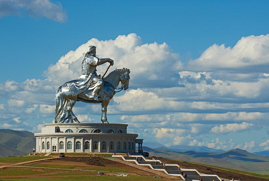 Genghis Khan equestrian statue  in Ulaanbaatar, Mongolia, 2008. Courtesy and photograph: Getty Images/Tuul  & Bruno Morandi