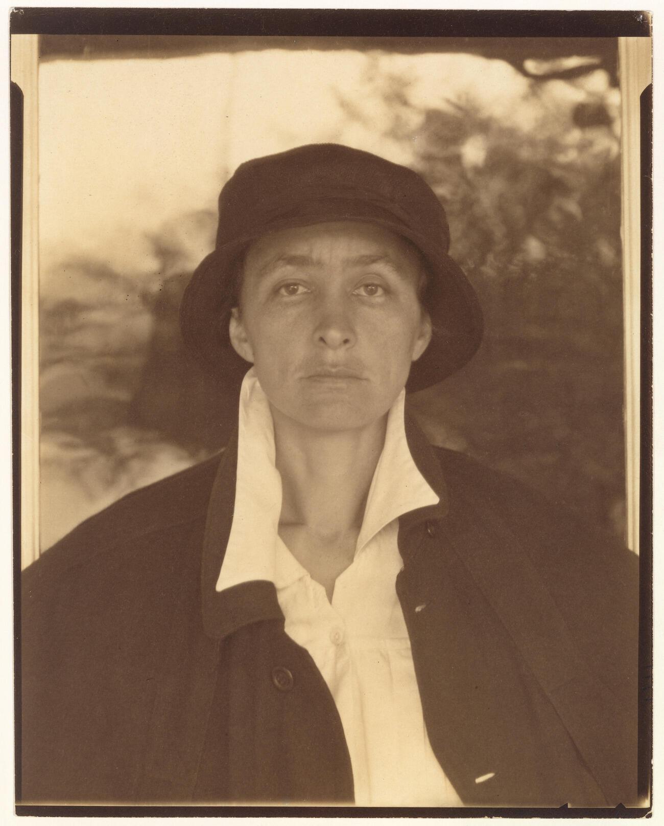 Sepia portrait of woman