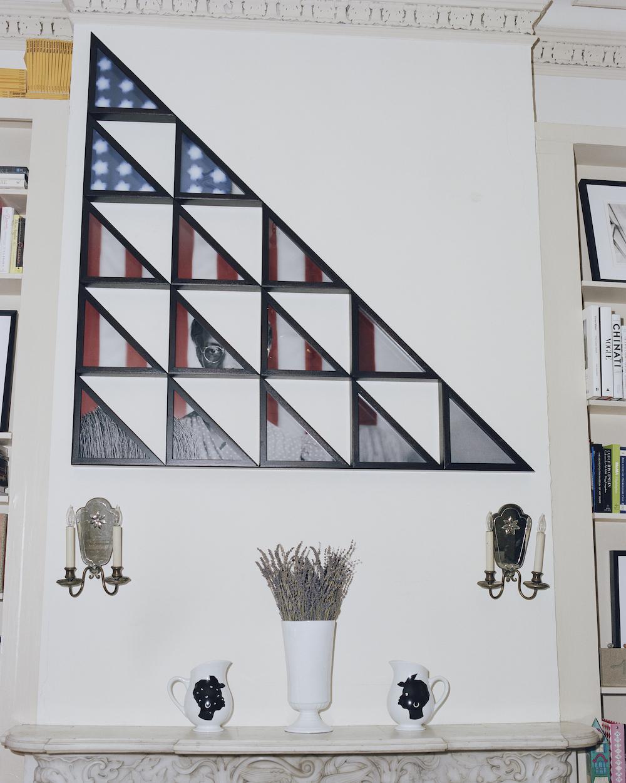 On the wall: Hank Willis Thomas, American Gothic, 2014 On themantelpiece: Kara Walker, Untitled (Pitcher) Photo:DaveyAdesida