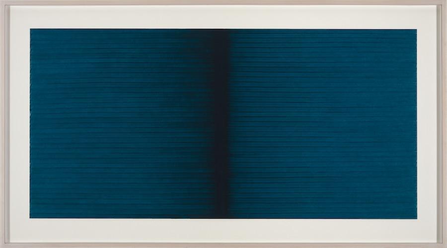 I.Blank, Radical Writings, Schrift-Atem-Aufzeichnungen II 15-10-91, 1991, oil on cardboard_olio su cartone, cm.34,5x70,5