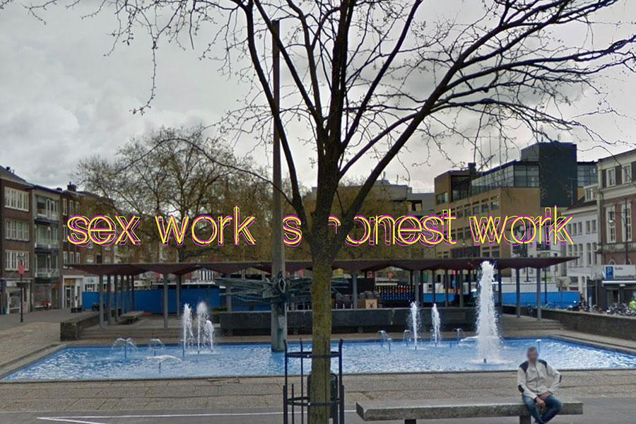 Sketch for Sex Work Is Honest Work (2021), an installation by Olu Oguibe commissioned by Sonsbeek 20→24. Courtesy: the artist