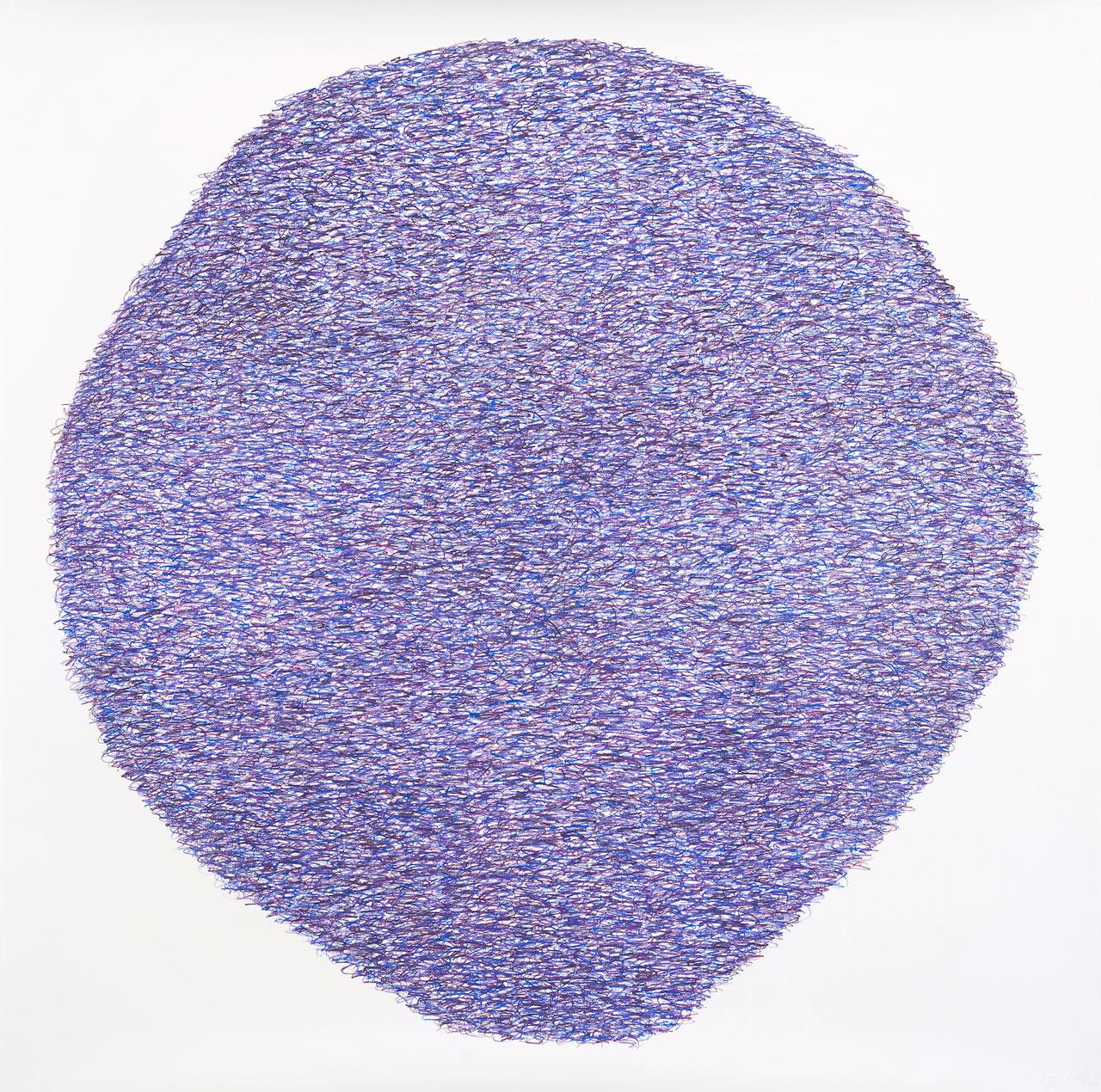 McArthur Binion, Under:Conscious: Drawing VII, 2014, colored pencil on paper, 133.4 × 133.4 cm. Courtesy: the artists and Richard Gray Gallery, Chicago.