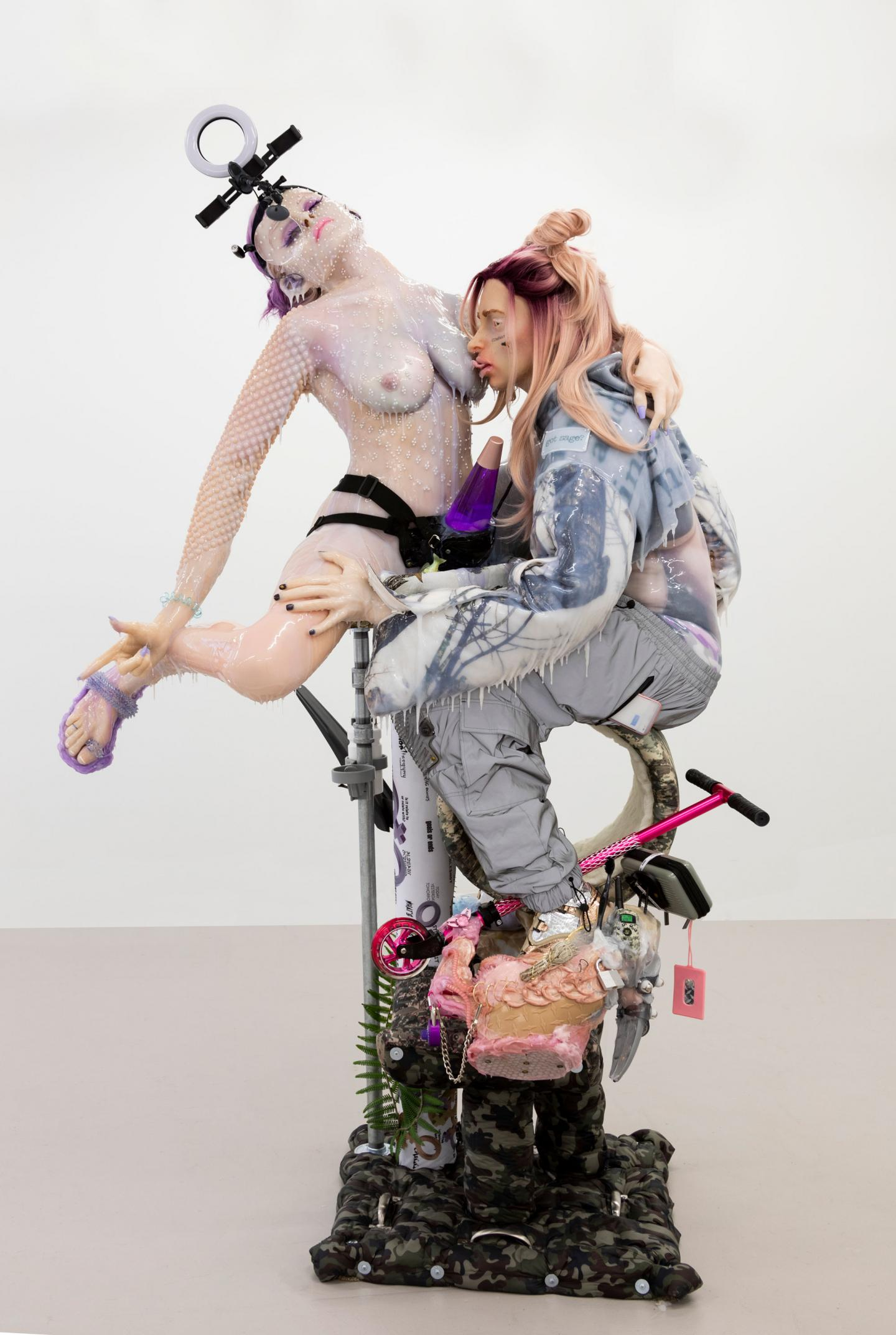 Cajsa von Zeipel, Aqua Aura, 2020, pigmented silicon, mixed media, dimensions variable. Courtesy: the artist and COMPANY Gallery, New York