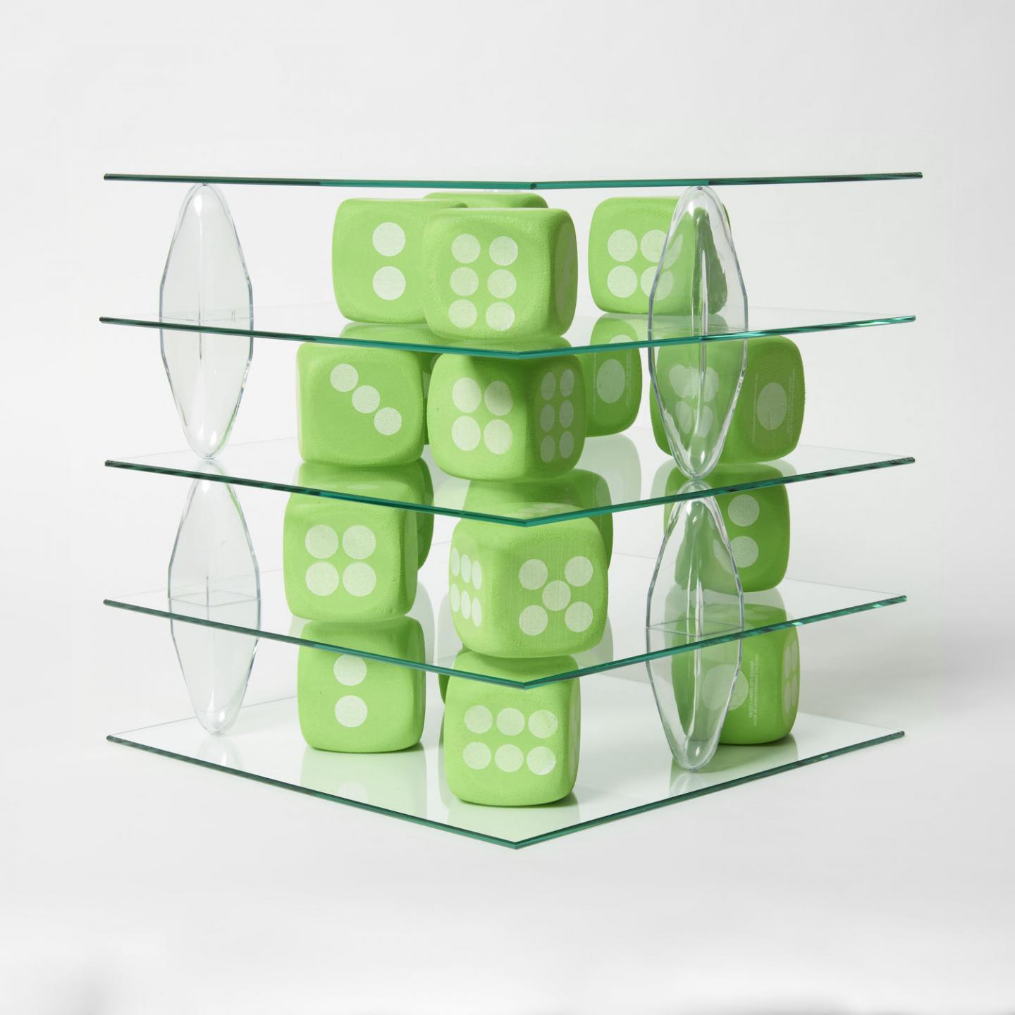 Patrick Jackson, Shelving Unite (Dice), 2020, .Courtesy: the artist and François Ghebaly, Los Angeles