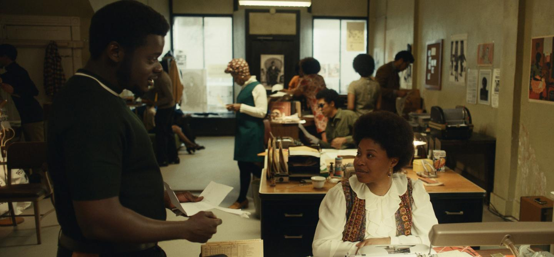 "Judas and the Black Messiah, (L-r) DANIEL KALUUYA as Chairman Fred Hampton and DOMINIQUE FISHBACK as Deborah Johnson in Warner Bros. Pictures' ""JUDAS AND THE BLACK MESSIAH,"" a Warner Bros. Pictures release."