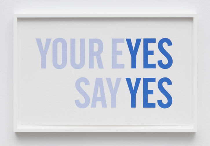 Yes, Yes, 2021 Acrylic gouache on paper 17.5 x 28.25 inches 44.5 x 71.8 cm