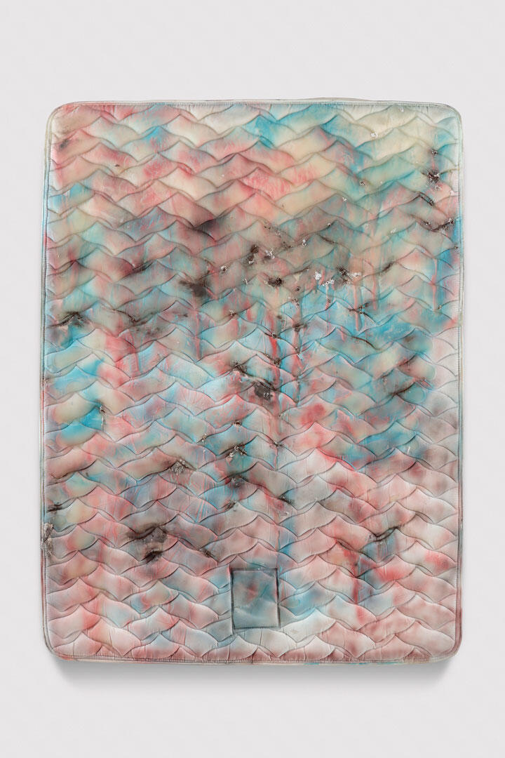 Kaari Upson Aqua-Fresh, 2014–16 Silicone, pigment, nylon and fiberglass 200.7 × 154.9 × 22.9 cm