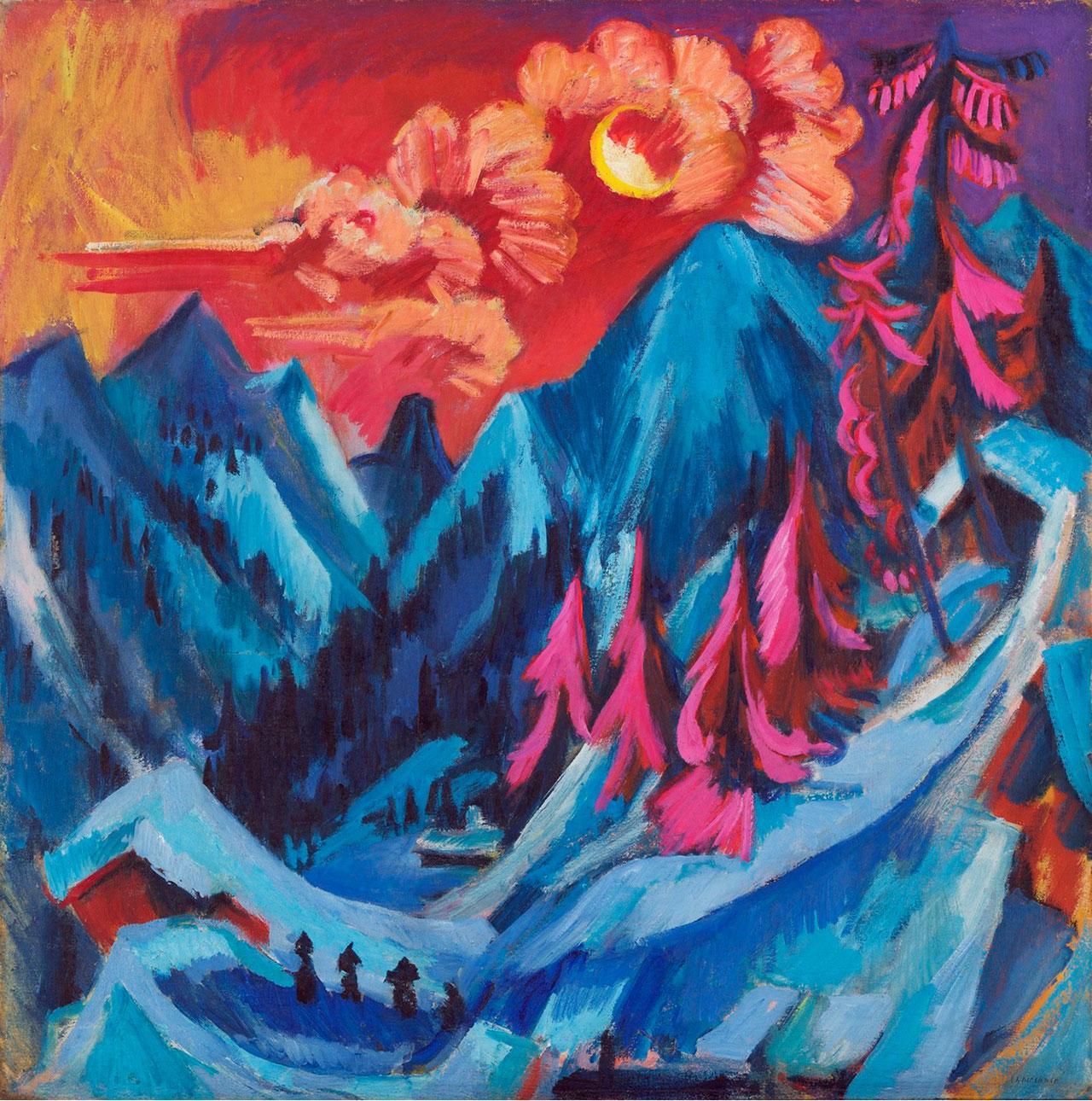 Ernst-Luwdig-Kirchner-Painting-Windermondlandschaft