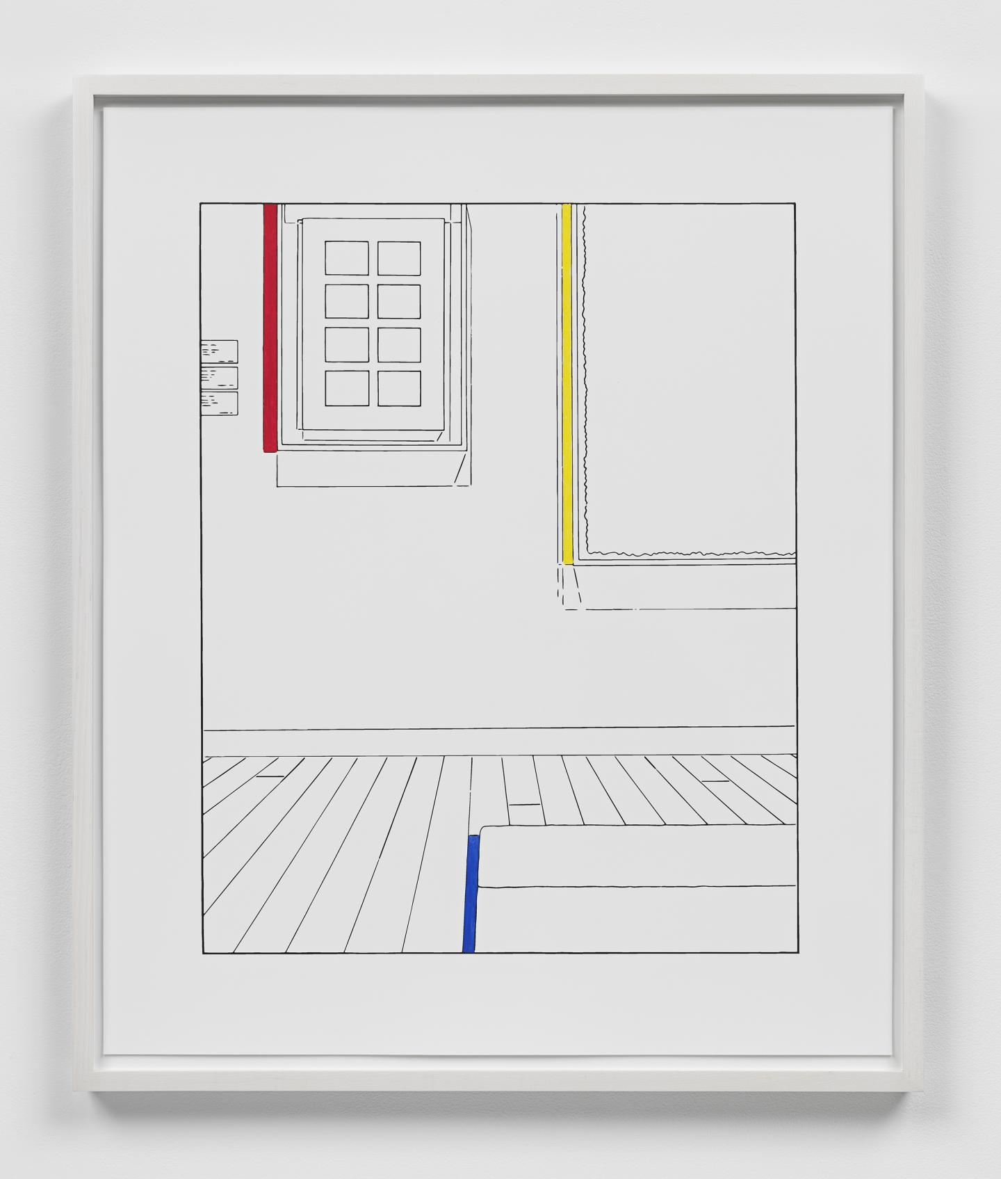 Louise Lawler Life Expectancy (traced and painted), First, 2010/2018/2020 archival pigment print with gouache 18 1/2 x 14 3/4 inches (image) 47 x 37.5 cm