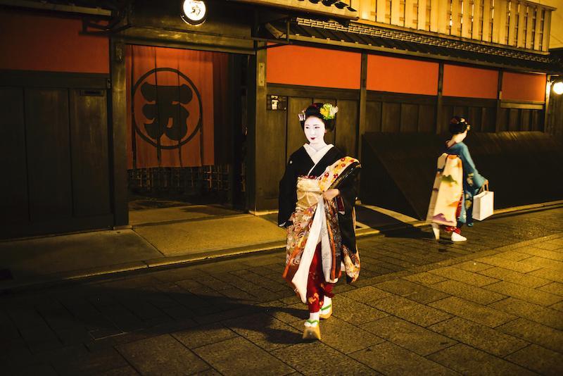 Maikos in Gion Kyoto Japan
