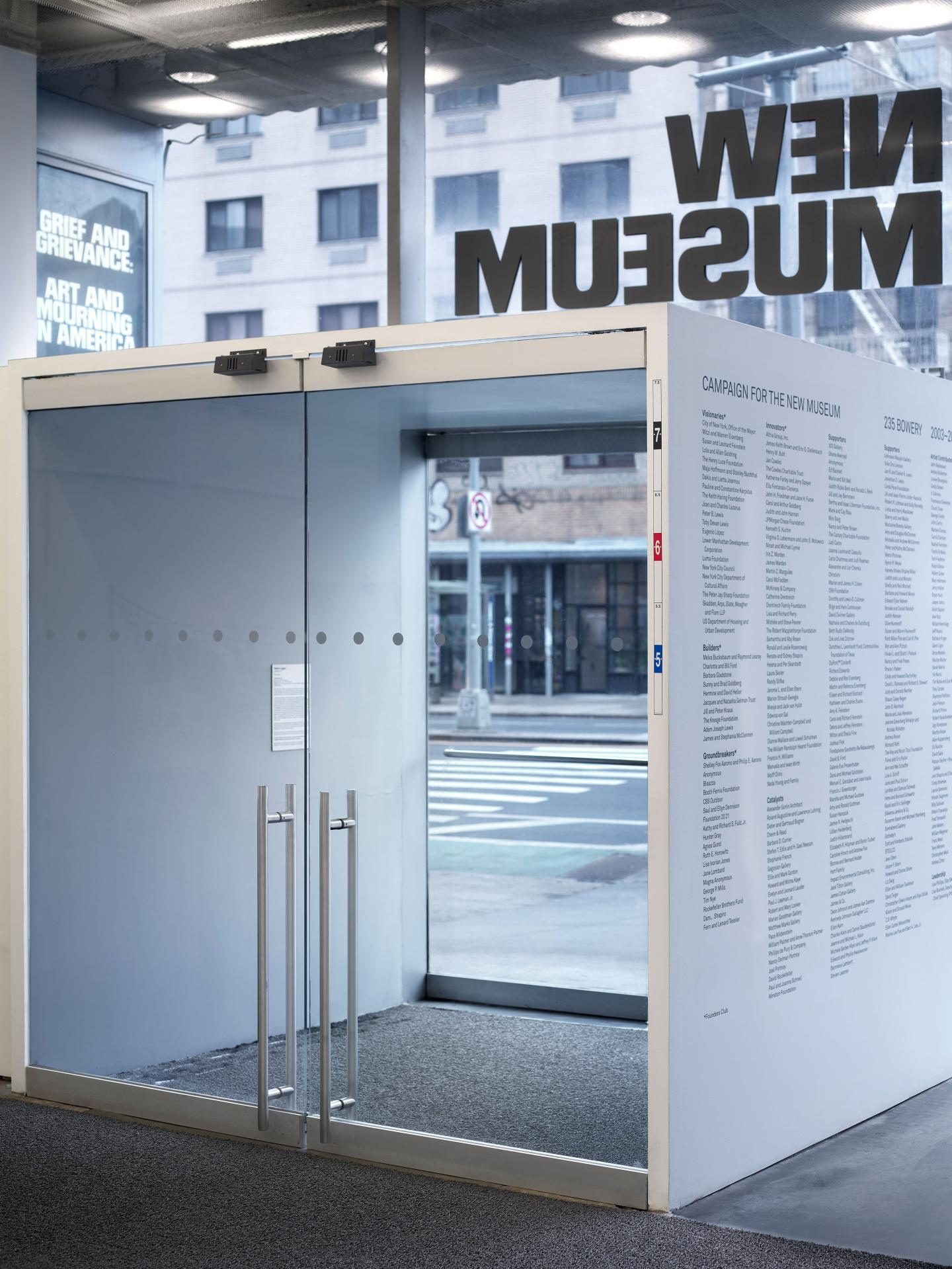 """""""Grief and Grievance: Art and Mourning in America,"""" 2021. Exhibition view: New Museum, New York. Photo: Dario Lasagni"""