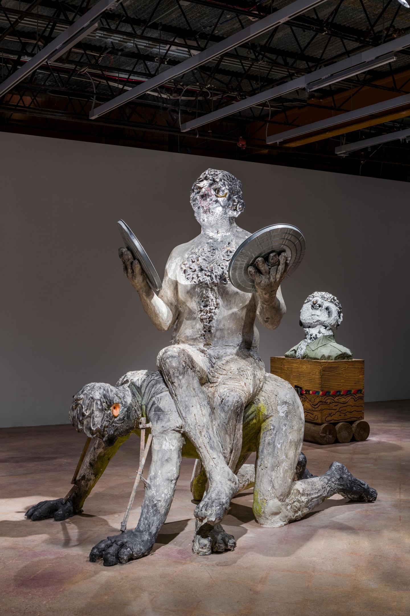 Nicole Eisenman, Procession, 2019-2020, installation view, 'Nicole Eisenman: Sturm und Drang', The Contemporary Austin. Courtesy: the artist, Vielmetter Los Angeles and Anton Kern Gallery, New York; photograph: The Contemporary Austin / Colin Doyle