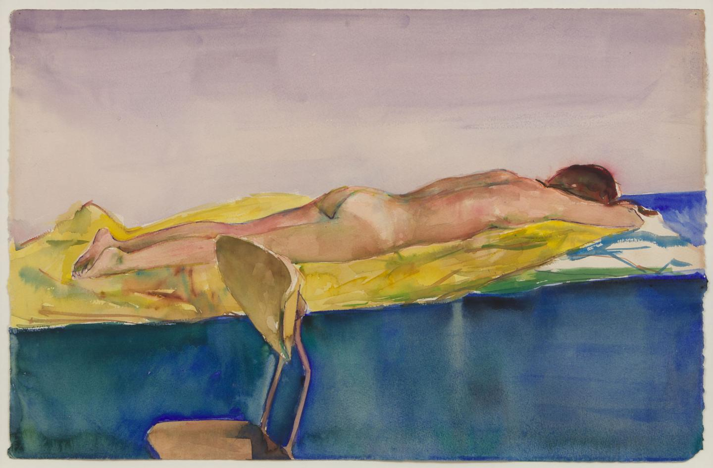 Patrick Angus Untitled, 1980s Watercolor on paper Artwork: 14 1/2 x 22 1/2 in (36.8 x 57 cm)