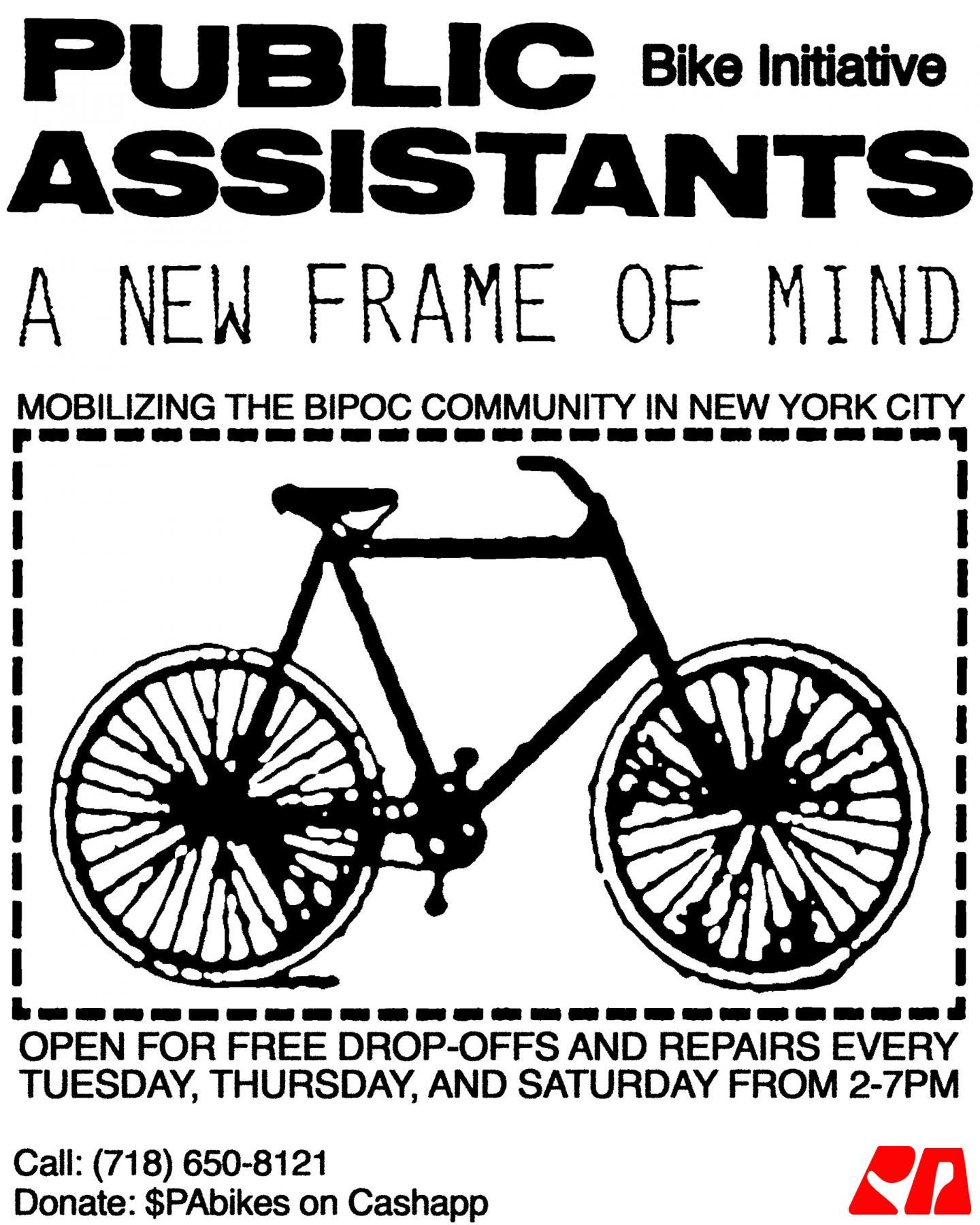 Public Assistants, Bike repair poster, 2020