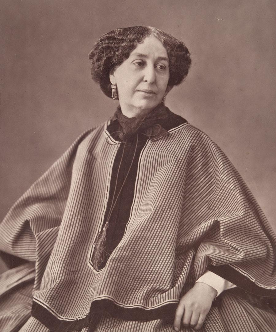 Nadar, George Sand, 1864, photograph on glass. Courtesy: Wikimedia Commons