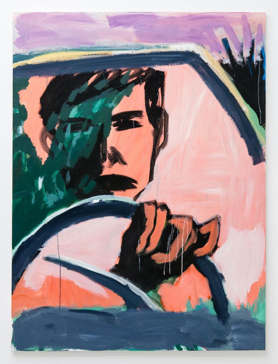 Ricardo Gonzalez, Driving, 2021 142 x 106 cm, 56 x 42 in Acrylic over canvas