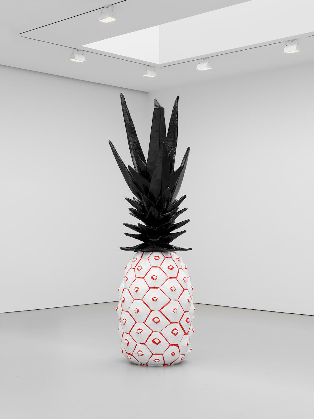 Rose Wylie   Pineapple 2020   Painted bronze in 2 parts   © Rose Wylie     Courtesy the artist and David Zwirner