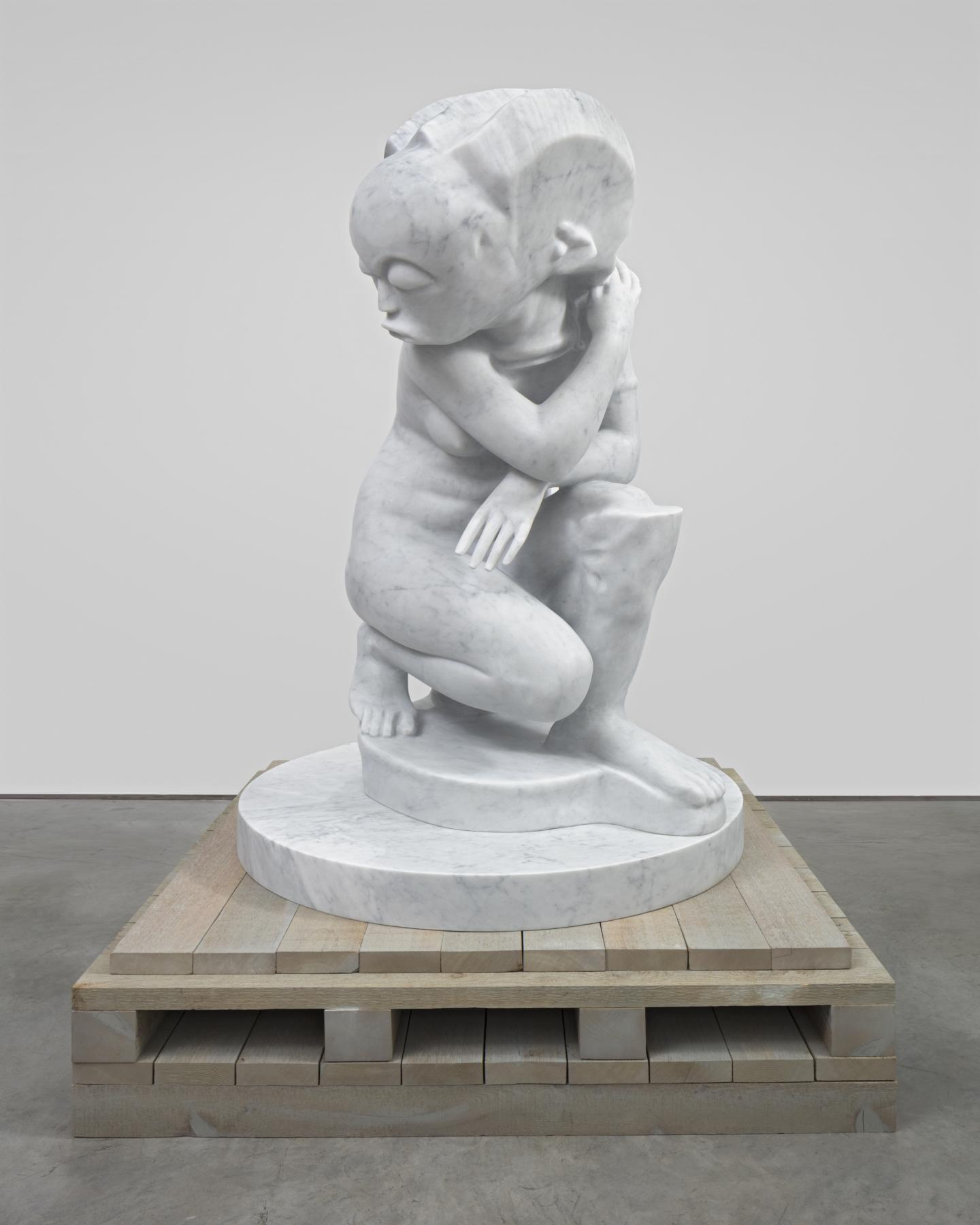 MARIANNE BOESKY GALLERY BOESKYGALLERY.COM 212.680.9889 347.296.3667 TELEPHONE FAX NEW YORK | ASPEN Sanford Biggers Lady Interbellum , 2020 White marble on custom cedar plinth Marble, 157.5 x 114.3 x 104.1 c