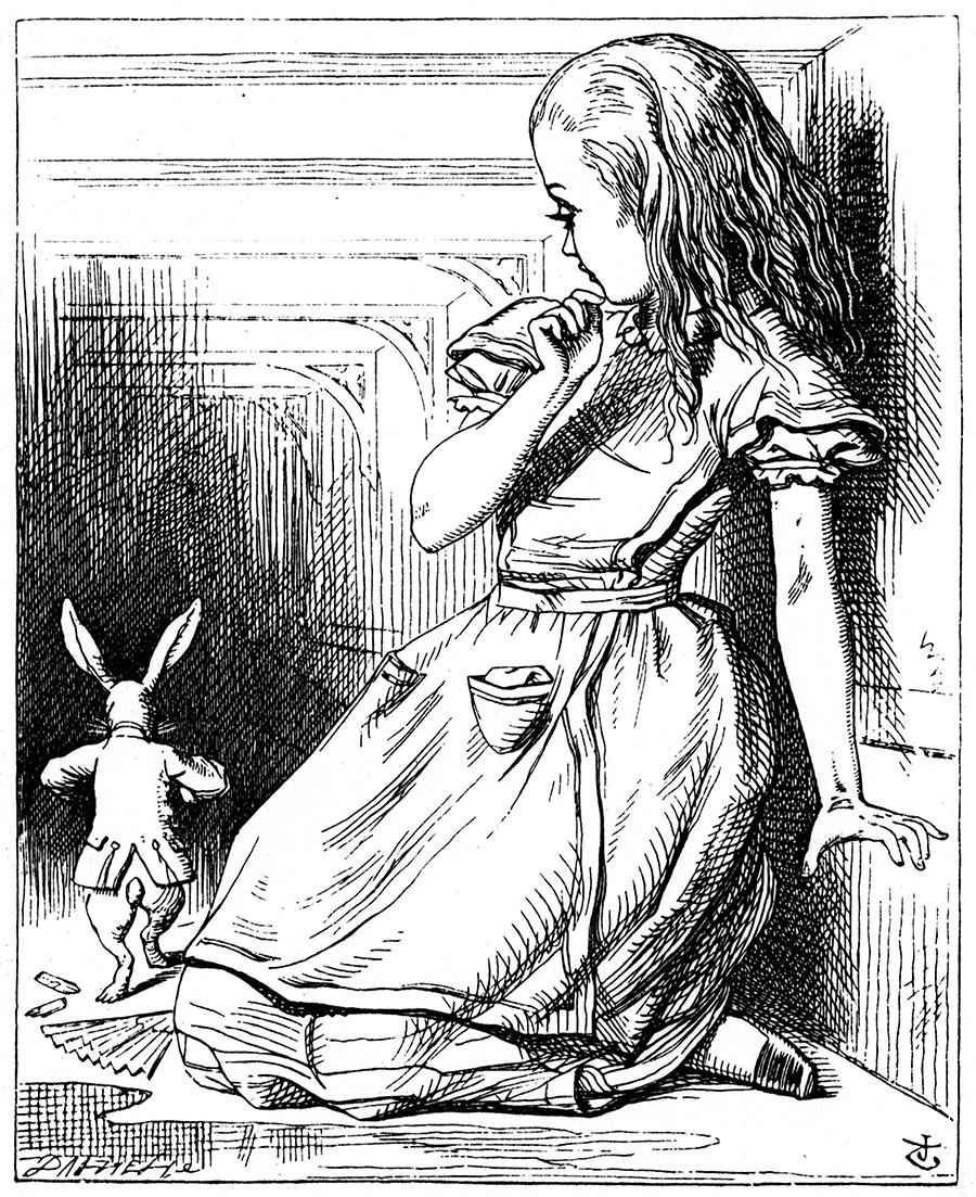 Illustration by John Tenn iel for Alice's Adventures in Wonderland by Lewis Carroll