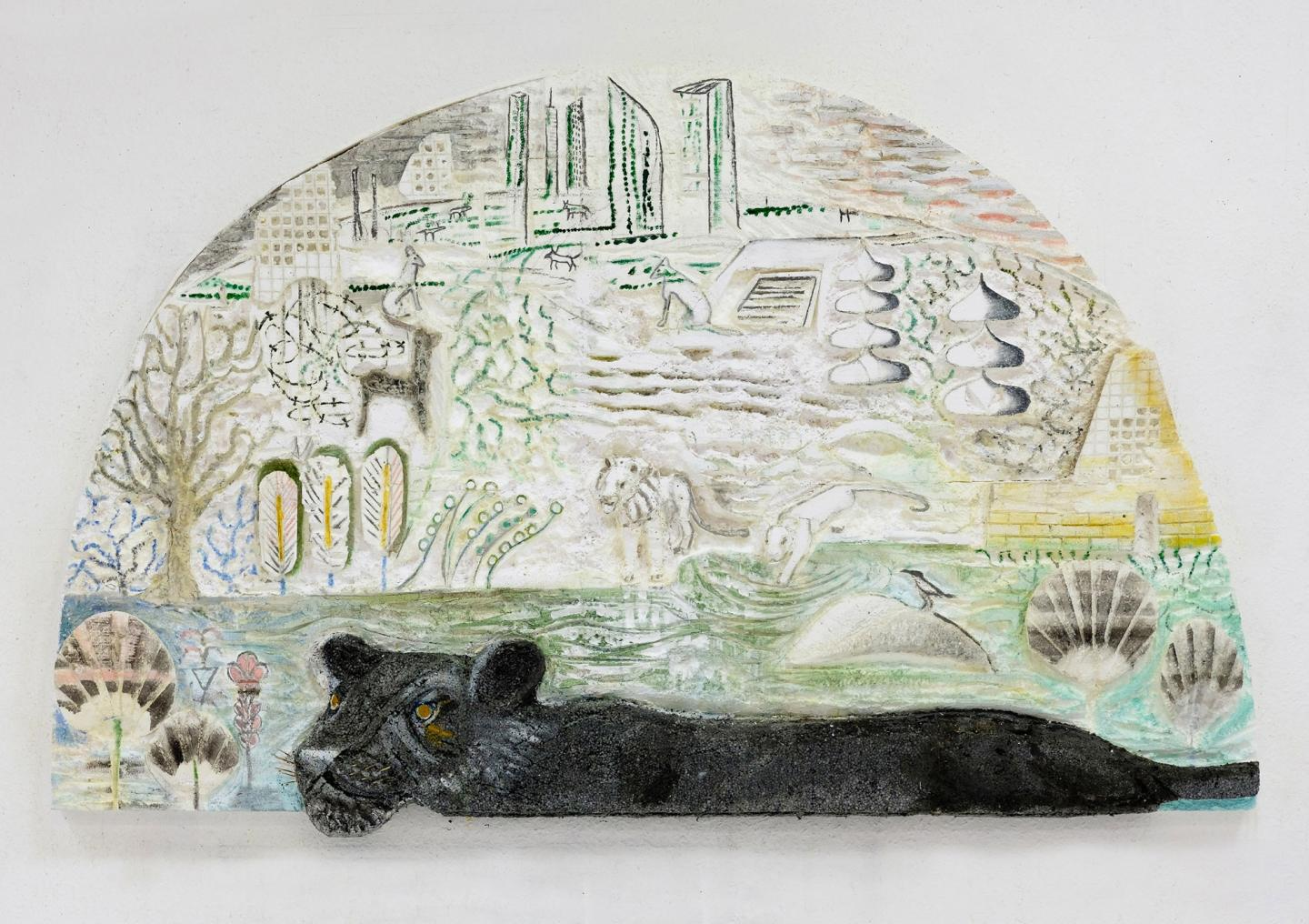 Lin May Saeed, Panther Relief, 2017
