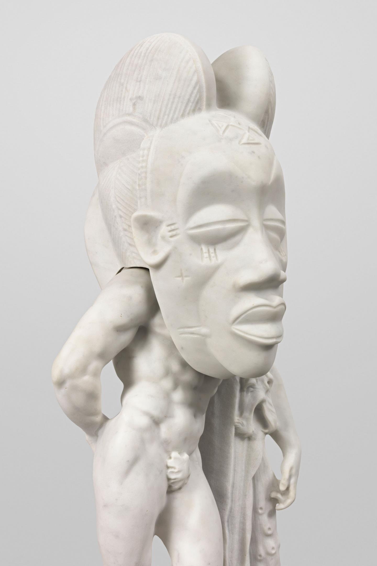 Sanford Biggers, Cannigula, marble sculpture